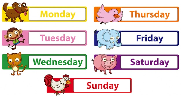 On the week of