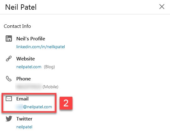 Find email of twitter user