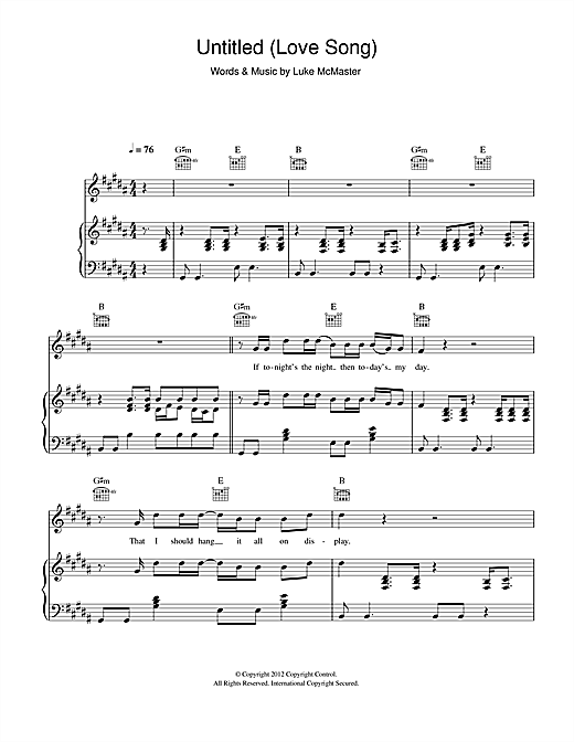 Untitled love song